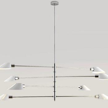 002c1122_8 Lámpara Suspensión Articulada 8 Tulipas