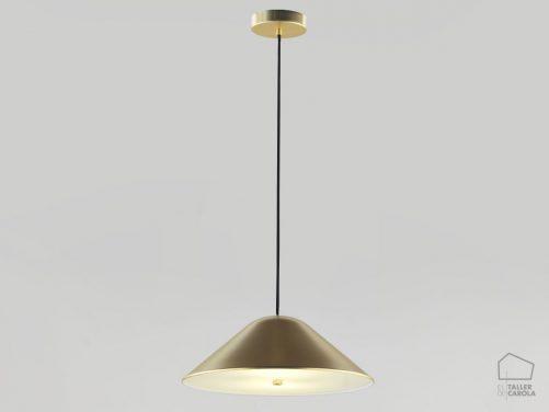 002c1191g Lámpara Suspensión Nórdica Oro Campana