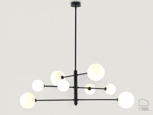002c1214 Lámpara Suspensión Vintage Negro Brazos Articulados