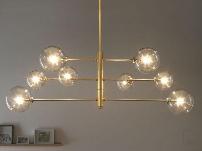 002c1214 Lámpara Suspensión Vintage Oro Brazos Articulados