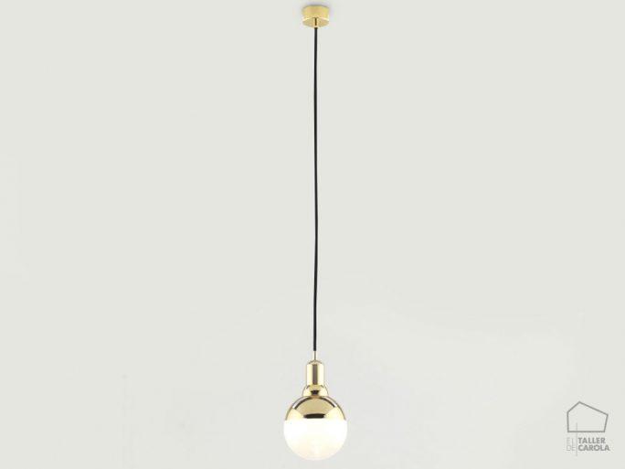 002c1221 Lampara Suspension Vintage Bombilla Oro