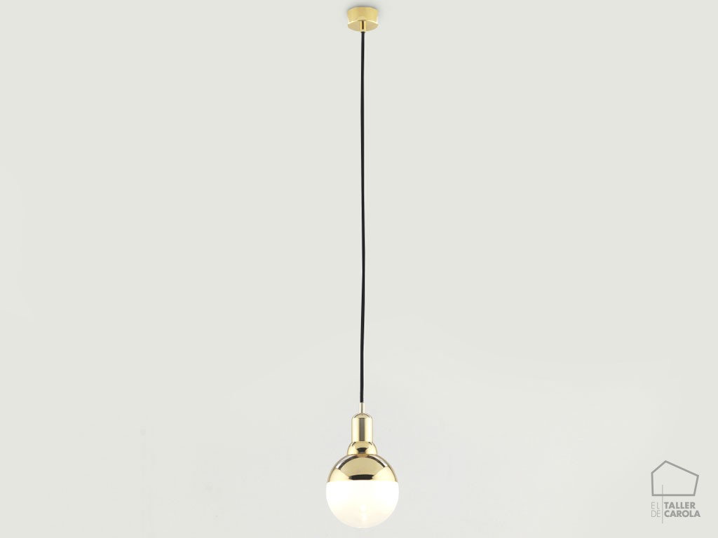 002c1221 Lampara Suspension Vintage Bombilla Oro