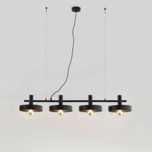 Lámpara Taller Negra x4