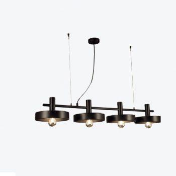 002c1227_4l Lámpara Suspensión Industrial Metal Negro