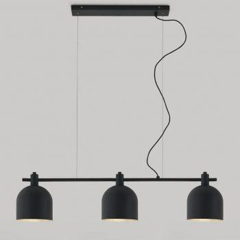 002c1239 Lámpara Suspensión Vintage Metalica Tres Tulipas
