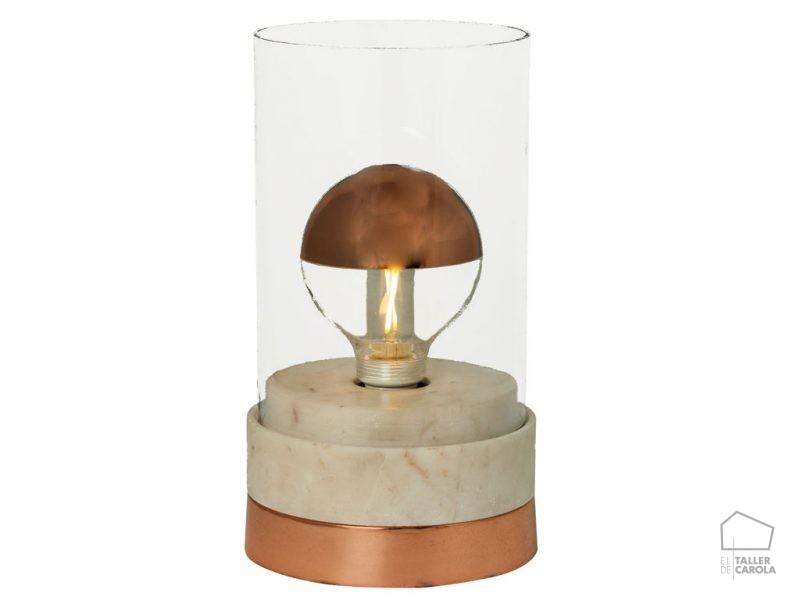 002s1059 Lámpara Sobremesa Mármol Linterna
