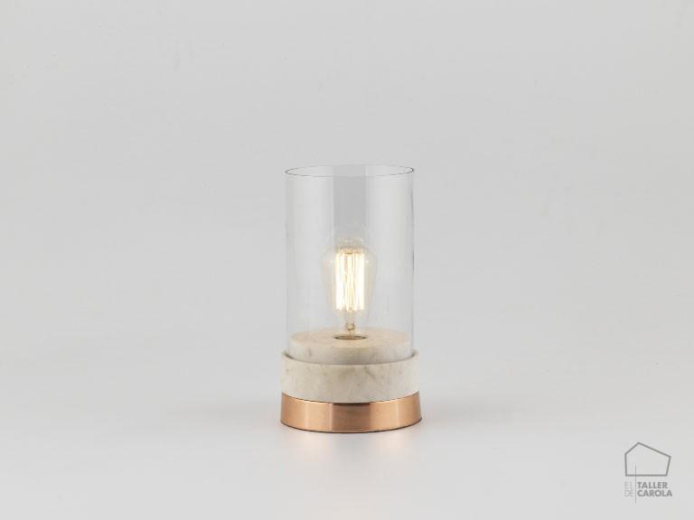 002s1059 Lámpara Sobremesa Linterna Cristal