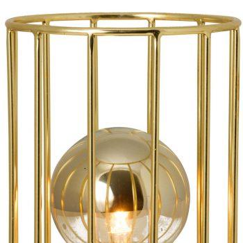 002s1060 Lámpara sobremesa Vintage Jaula Oro