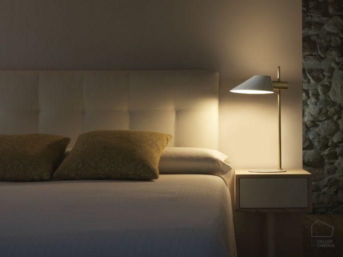 002s1196 Lámpara Sobremesa Metal Vintage Dormitorio