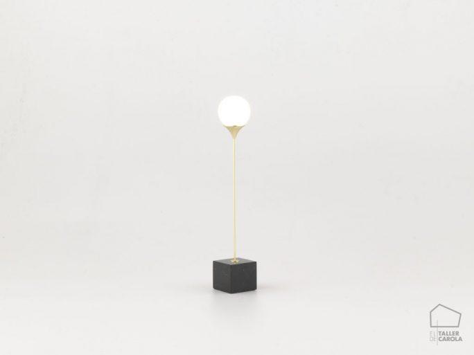 002s1210 Lámpara Sobremesa Vintage Mármol Globo