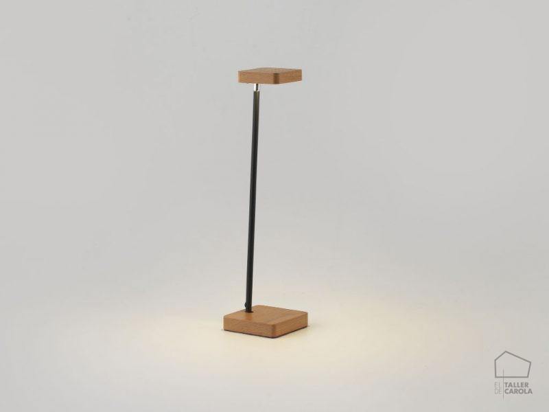 002s1235 Lámpara Sobremesa Flexo Madera