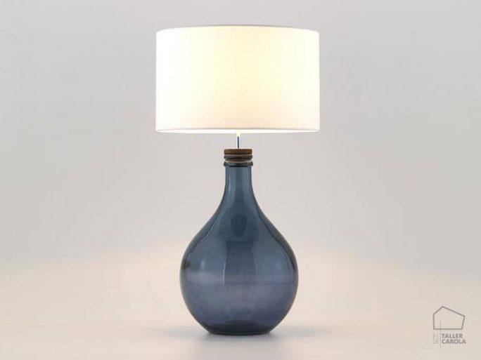 002snac093-lampara-sobremesa-botella-cristal-azul-con-pantalla