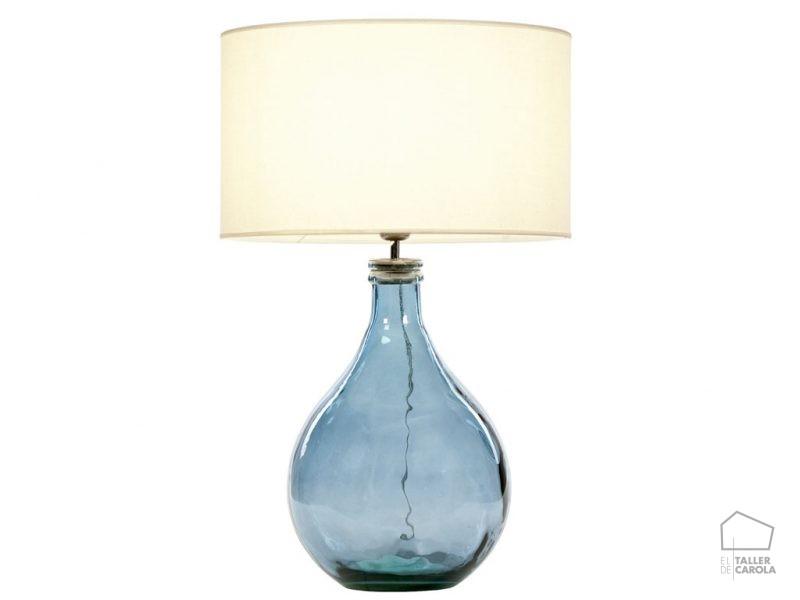 002snac093 Lámpara Botella Cristal
