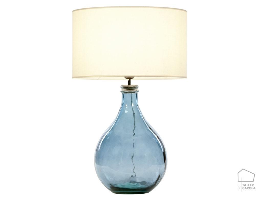 L mpara sobremesa botella cristal sam el taller de carola - Limpiar lamparas de cristal ...