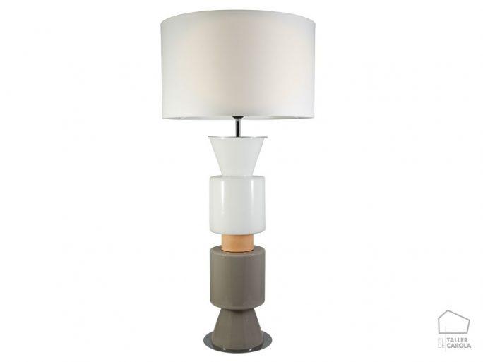 002snac109 Lámpara Sobremesa Pantalla y Cristal
