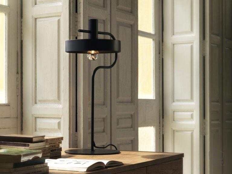002ss1240 Lámpara Sobremesa Industrial Negra