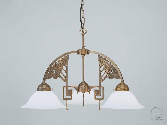Carola Decó de Art El CD7122 Taller Lámpara 54R3LqjA