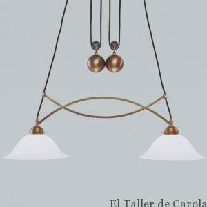 Lámpara Art Decó Poleas Bola B