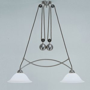 Lámpara Art Decó Poleas Bola