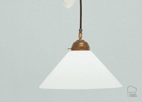 005cei01_70opb Lámpara Polea Porcelana