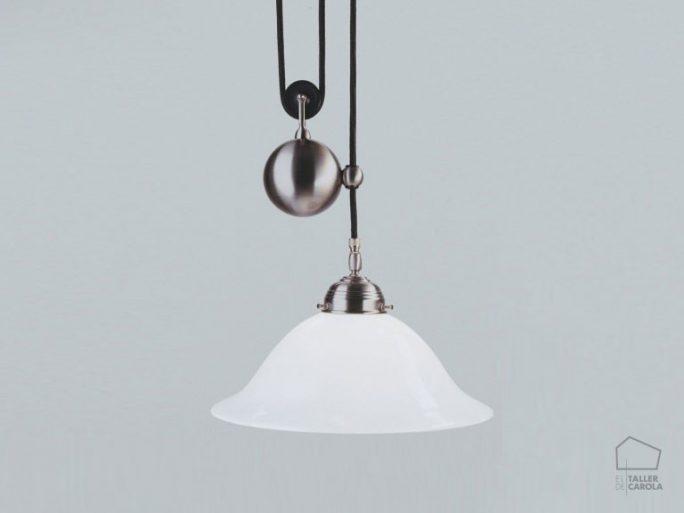 005cei05_38opn Lámpara Suspensión Art Decó Polea