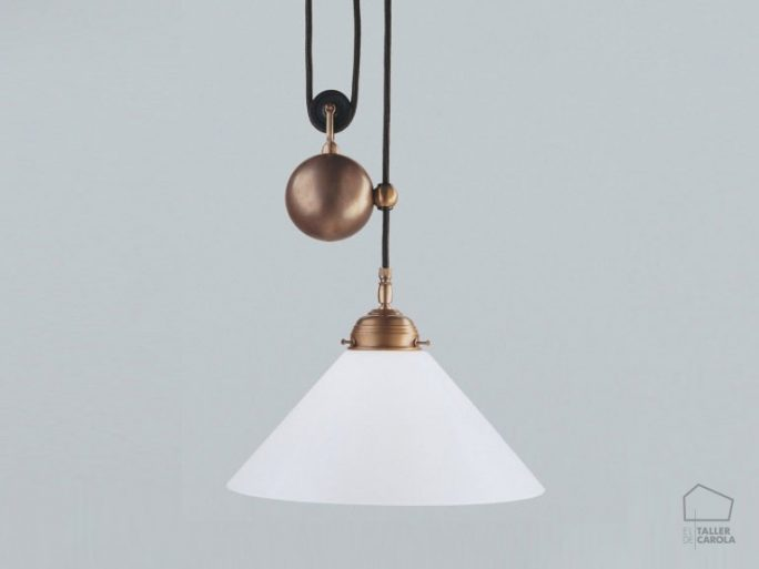 005cei05_70opb Lámpara Suspensión Art Decó