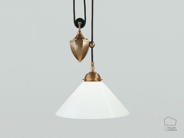 Lámpara Art Decó Polea Bola Piña