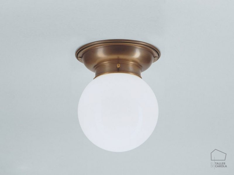 005pld60_115opb Plafon Modernista Bronce Globo Opal