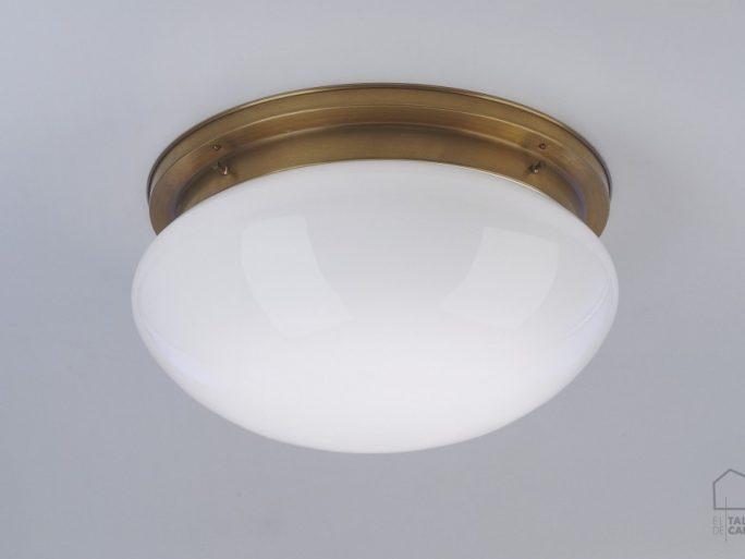 005pld92_183opb Plafon Modernista Bronce Tulipa Opal