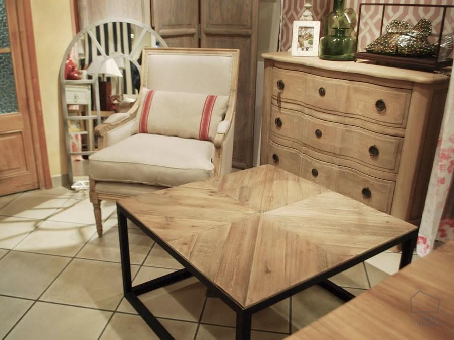 Mesa centro madera cuadrada el taller de carola - Mesa centro cuadrada ...