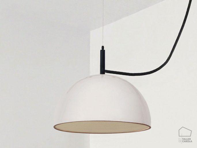 Lámpara ABS Barro Blanco