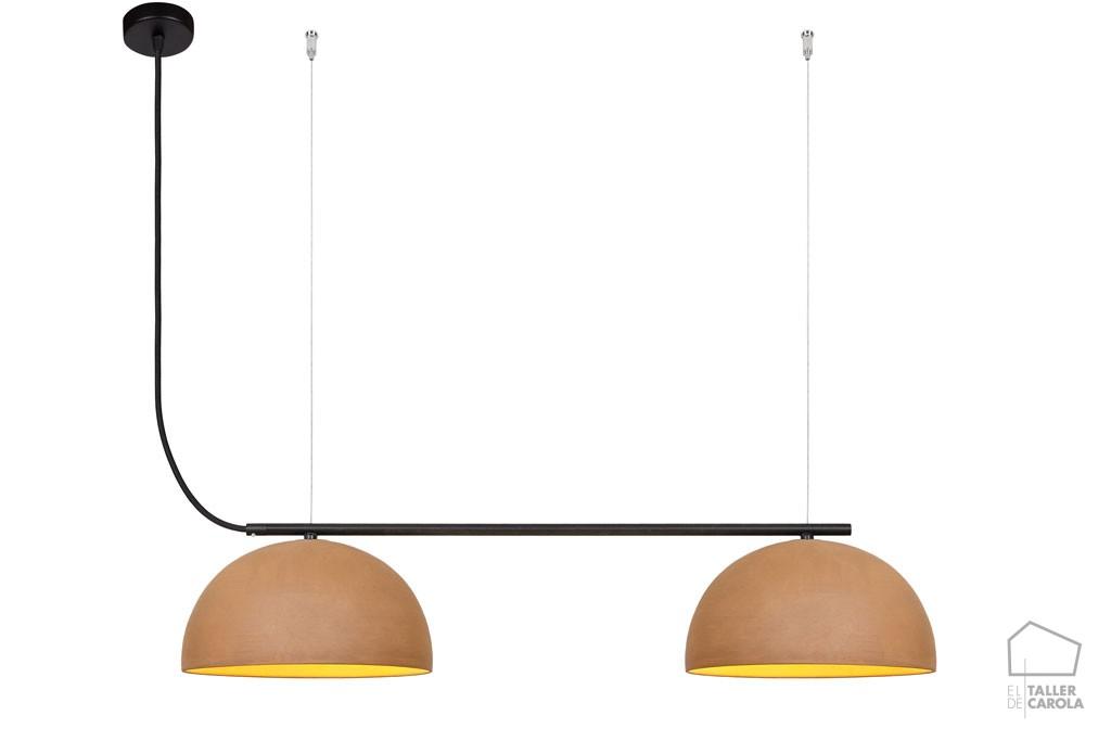 Lámpara ABS Barro Doble