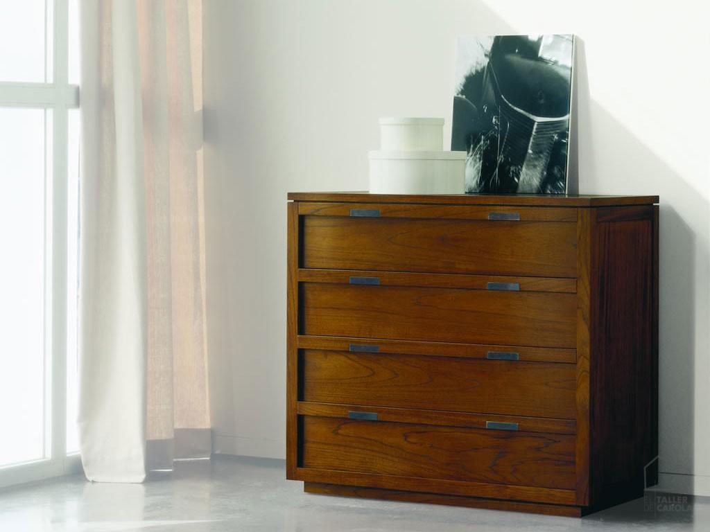 C moda madera derah cajones el taller de carola for Comoda 50 cm ancho