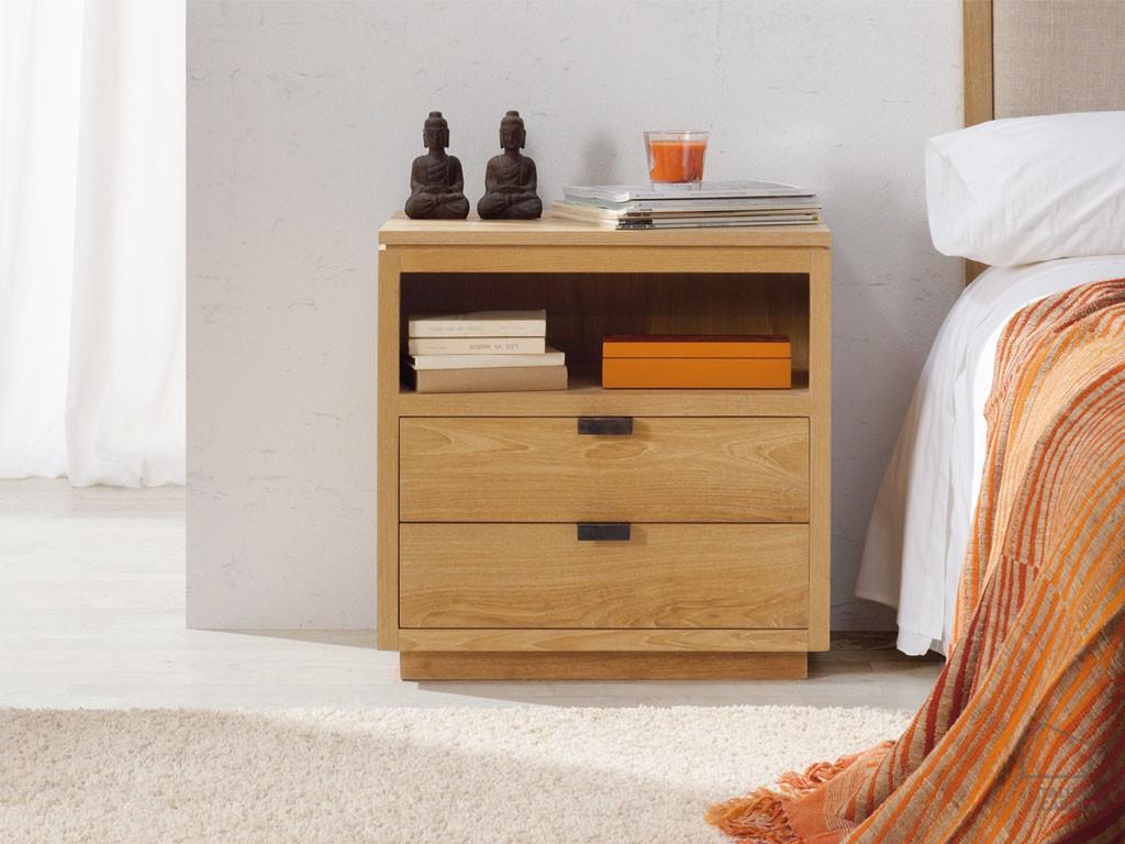 Mesita de noche dacor madera el taller de carola - Mesita de noche madera ...