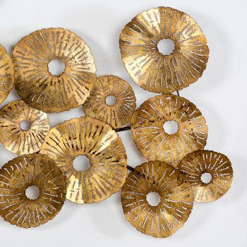 02012978 Adorno Pared Escultura dorada