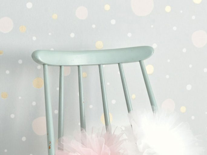 Papel Pintado Infantil Confetti Azul