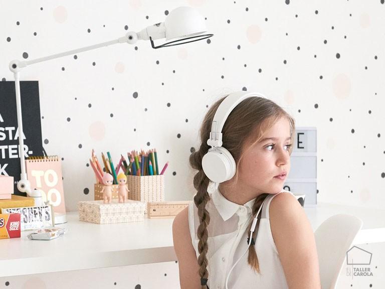 Papel Pintado Infantil Confetti Blanco