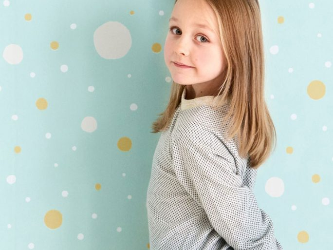 Papel Pintado Infantil Confetti Turquesa