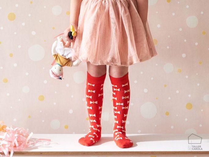 Papel Pintado Infantil Confetti Rosa