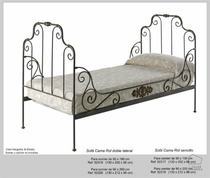 Estilo vintage sof s camas de forja el taller de carola - Sofas de forja ...