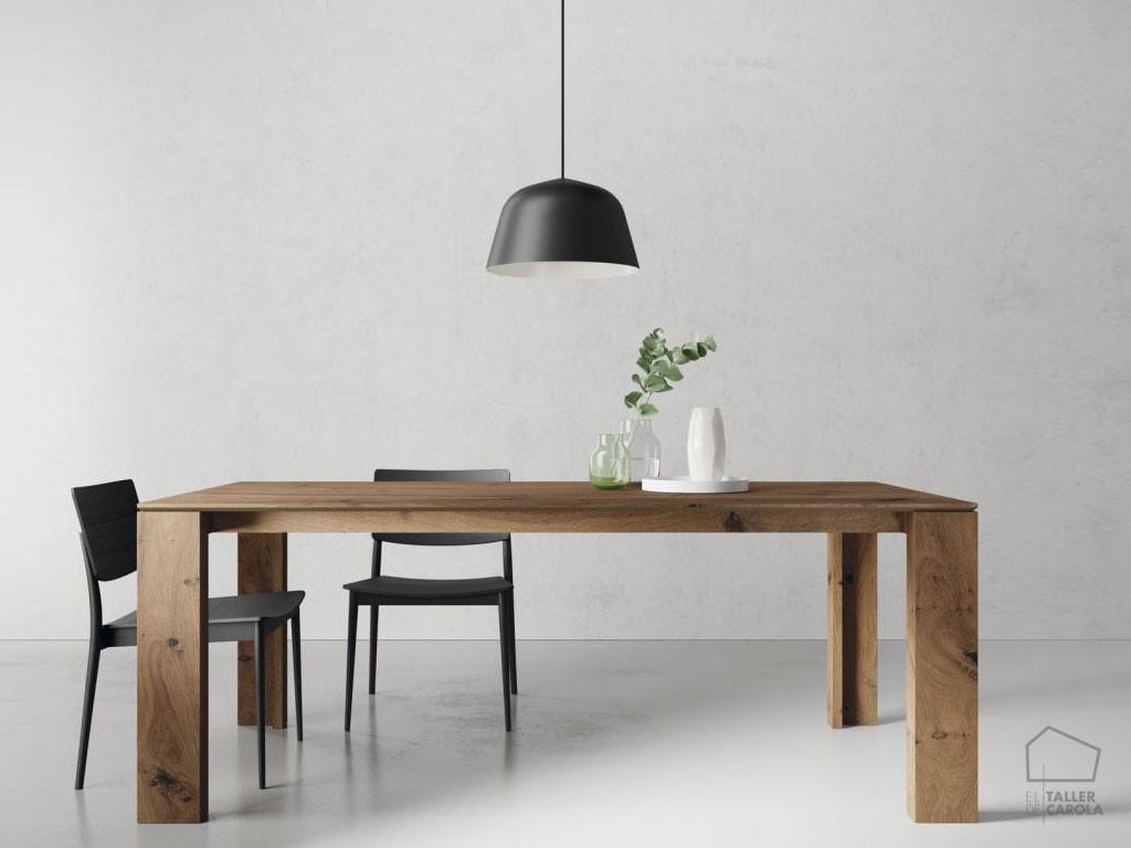 Mesa tav vintage extensible o fija el taller de carola - Mesa comedor madera extensible ...