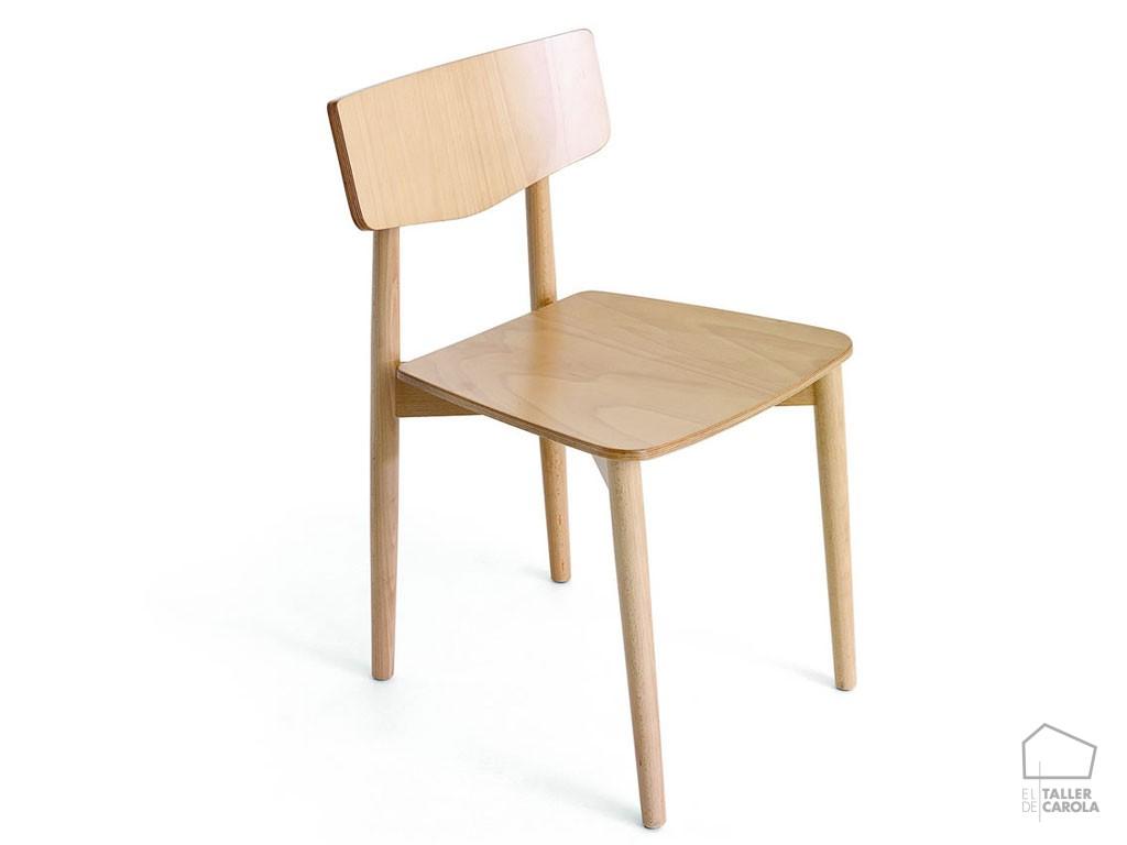 Silla ola madera n rdica el taller de carola for Silla nordica madera