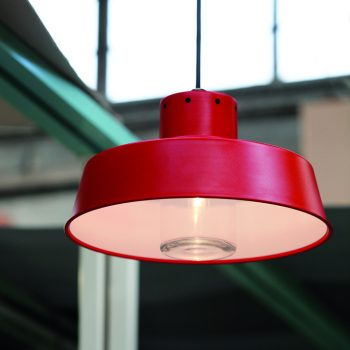 038cfk1084_110 Lámpara Suspensión Industrial Roja