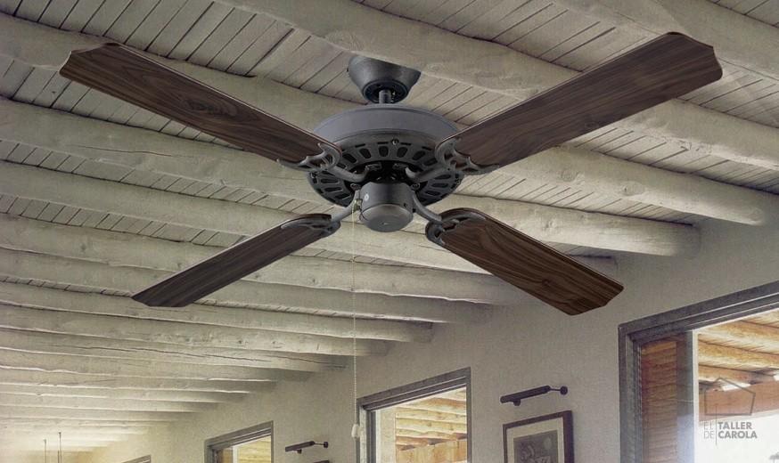 Ventiladores nuevos aires el taller de carola - Ventiladores de techo rusticos ...