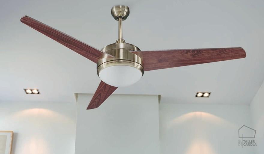 Ventiladores nuevos aires el taller de carola - Luz de techo ...