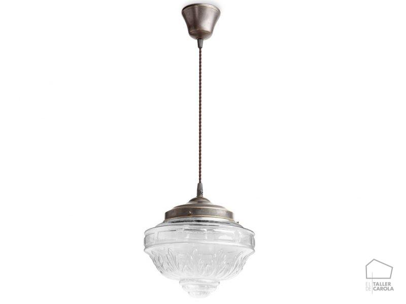 039c6003trsav lámpara suspensión vintage d25xh27cms
