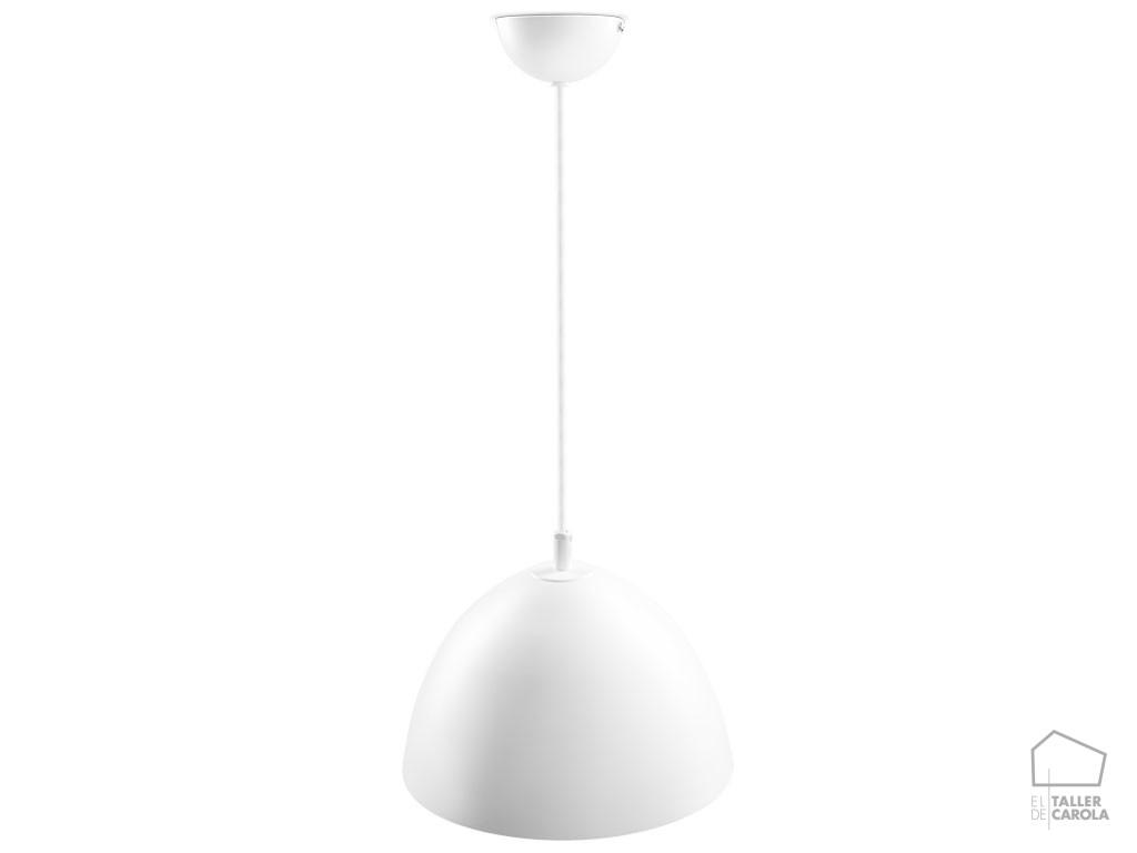 039c6973bl lámpara suspensión campana blanca d.26.5 x h20 mcs