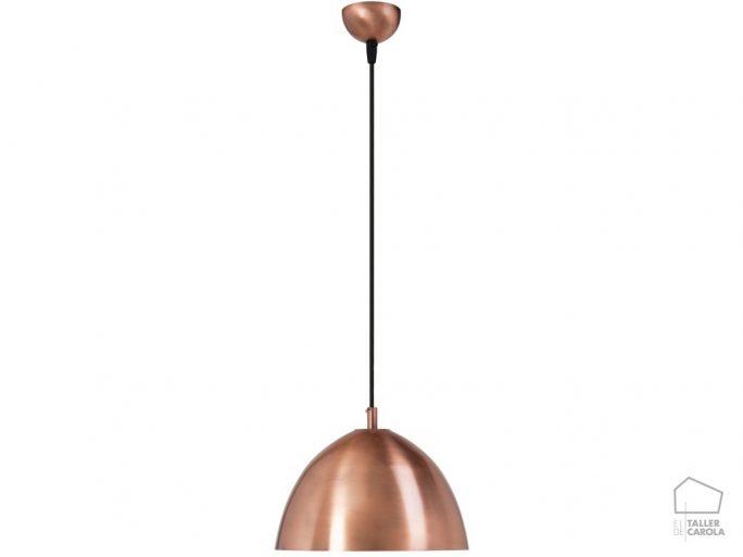 039c6973co lámpara suspensión campana nórdica cobre d.26.5 x h20 mcs
