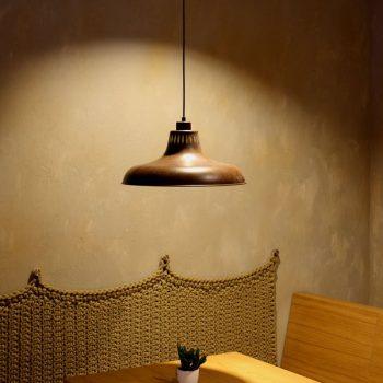 040c991gc lámpara suspensión campana industrial óxido d40xh23cm