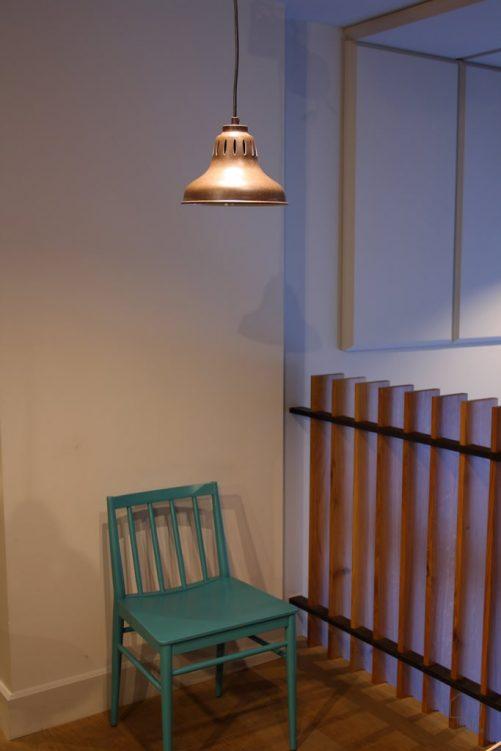 040c993pc lampara suspensión industrial campana óxido d18xh16cm